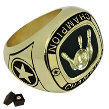 Gold Metal Bowling Ring - 5 Sizes