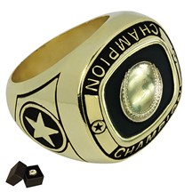 Gold Metal Baseball/ Softball Ring - 5 Sizes