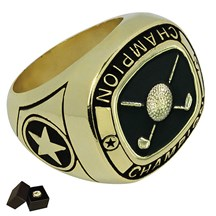 Gold Metal Golf Ring - 5 Sizes