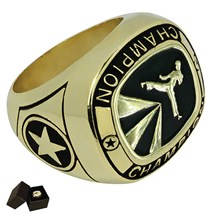Gold Metal Karate Ring - 5 Sizes