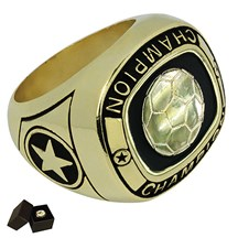 Gold Metal Soccer Ring - 5 Sizes