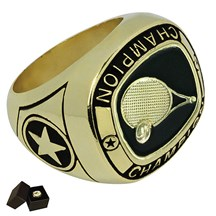 Gold Metal Tennis Ring - 5 Sizes
