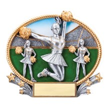 3D Resin Oval Cheerleading Trophy