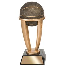 Basketball Tower Resin Trophy - 3 Sizes