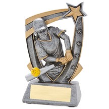 3-D Softball Star Resin Trophy