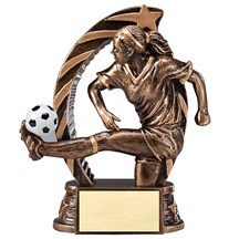 Female Soccer Star Series Trophy - 2 Sizes