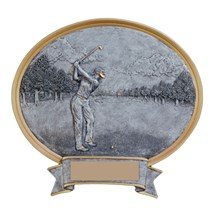 Resin Sport Oval Female Golf Trophy