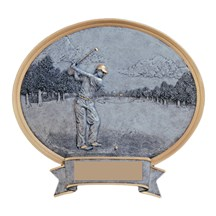Resin Sport Oval Male Golf Trophy