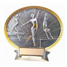 Resin Sport Oval Gymnastics Trophy