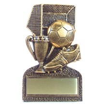 Bronze Resin Soccer Trophy
