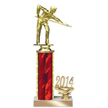 4 Sizes Year Date Billards Trophy