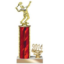 4 Sizes Year Date Tennis Trophy