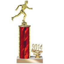 4 Sizes Year Date Track Trophy