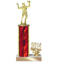4 Sizes Year Date Volleyball Trophy