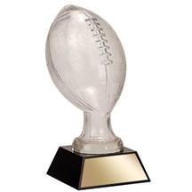 Glass Football w/ Marble Base - 2 Sizes