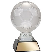 Glass Soccer Ball w/ Marble Base - 2 Sizes