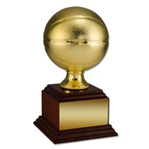 Basketball Trophy with Wood Base