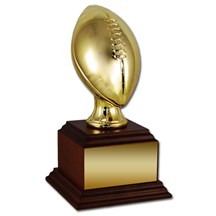 Football Trophy with Wood Base