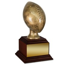 Antique Gold Football w/ Wood Base - 2 Sizes