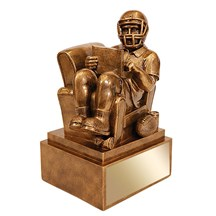 Antique Gold Fantasy Football Resin