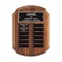 Employee of the Month Plaque with Roman Edge Design
