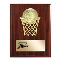 Gold Relief Basketball Plaque