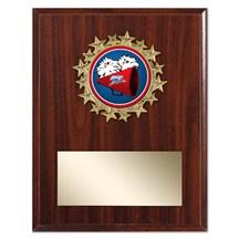 Star Frame Cheerleading Plaque