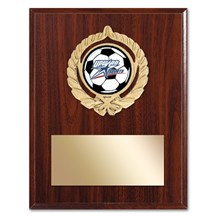 Gold Braid Soccer Plaque