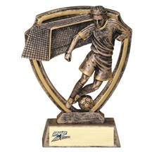 Resin Shield Series Soccer Trophy - 2 Sizes