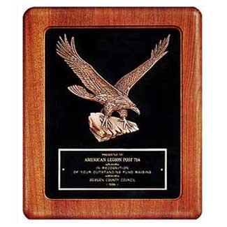 14 in x 17 in American Walnut Eagle Casting Frame