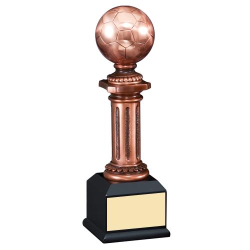 10 in Elegant Electroplated Sculpture Soccer Trophy