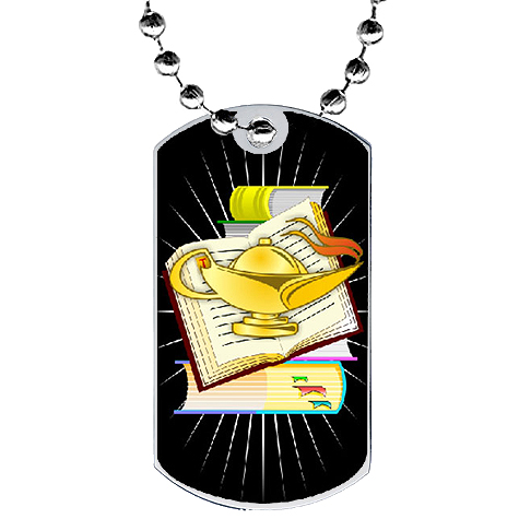 2 in Academic Dog Tag w/ Epoxy Dome Graphics