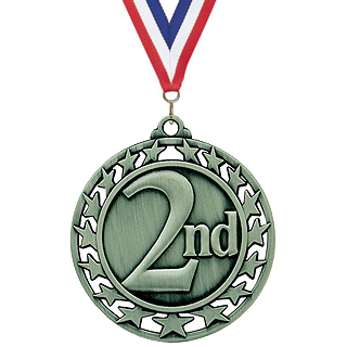 2-1/2 in Superstar Series 2nd Place Medal