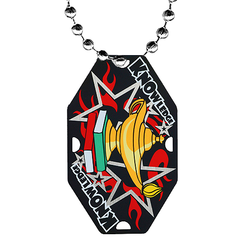 2.5 in Knowledge Dog Tag w/ Chain