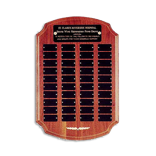 Solid Walnut Perpetual Plaque with Clipped Corners