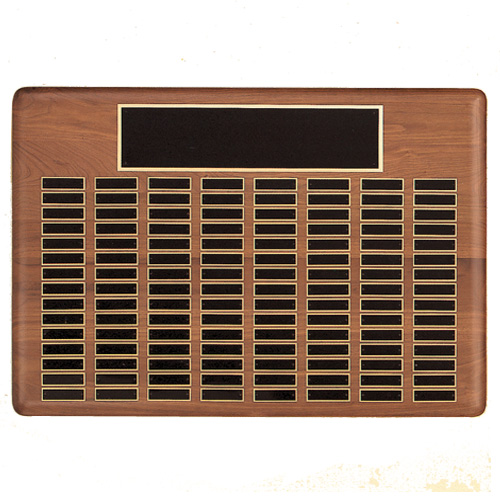 Solid Walnut Perpetual Plaque up to 144 Names