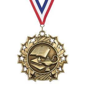 2-1/4 in Ten Star Graduate Medal