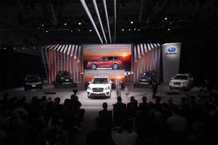 Thomas J. Doll, President and CEO of Subaru of America, Inc., introduced the all-new 2019 Forester at the 2018 New York International Auto Show