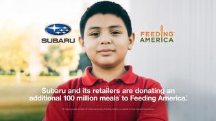 SUBARU OF AMERICA, INC. CONTINUES FIGHT AGAINST HUNGER PROVIDING 100 MILLION MEALS* IN LANDMARK DONATION TO FEEDING AMERICA®