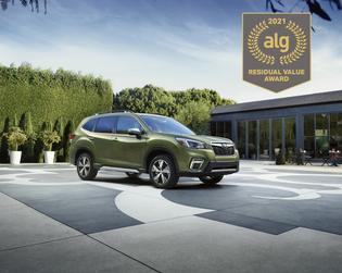 Best Compact Utility. According to ALG, the 2021 Subaru Forester retains its value better than any other vehicle in its class. The Forester has the highest residual value in its class for six years running.