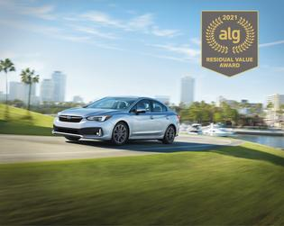 Best Compact Car. According to ALG, the 2021 Subaru Impreza retains its value better than any other vehicle in its class. The Impreza has the highest residual value in its class for five years running.