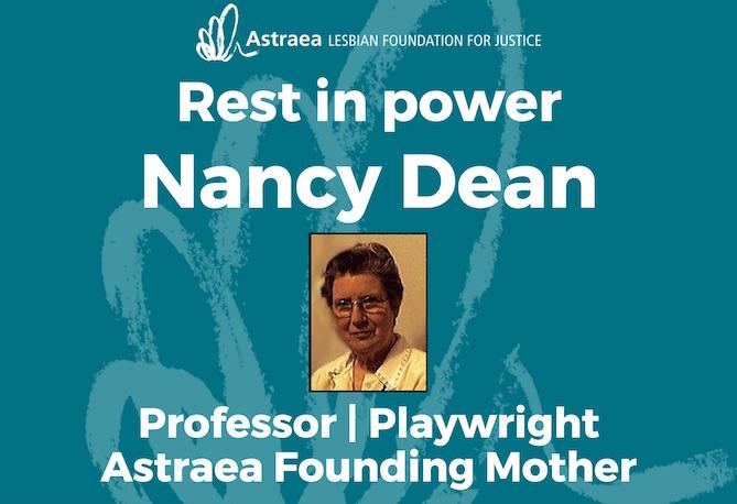 Nancy Dean: Astraea Founding Mother