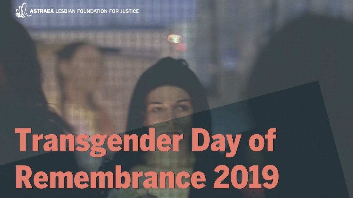 Trans Day of Remembrance 2019