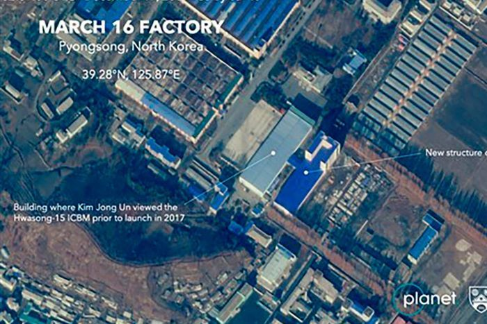 North Korea satellite photo
