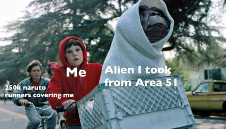 Area 51 alien meme
