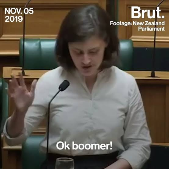 New Zealand MP says OK Boomer