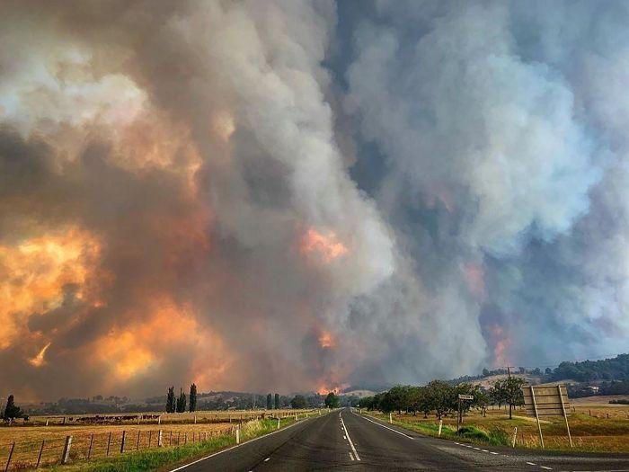 smoke cloud in Australia