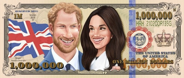 Prince harry and meghan markle on currency