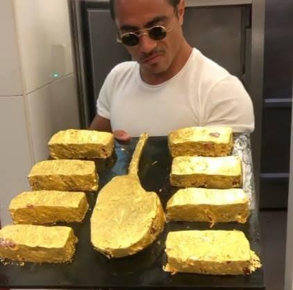 salt bae gold steak