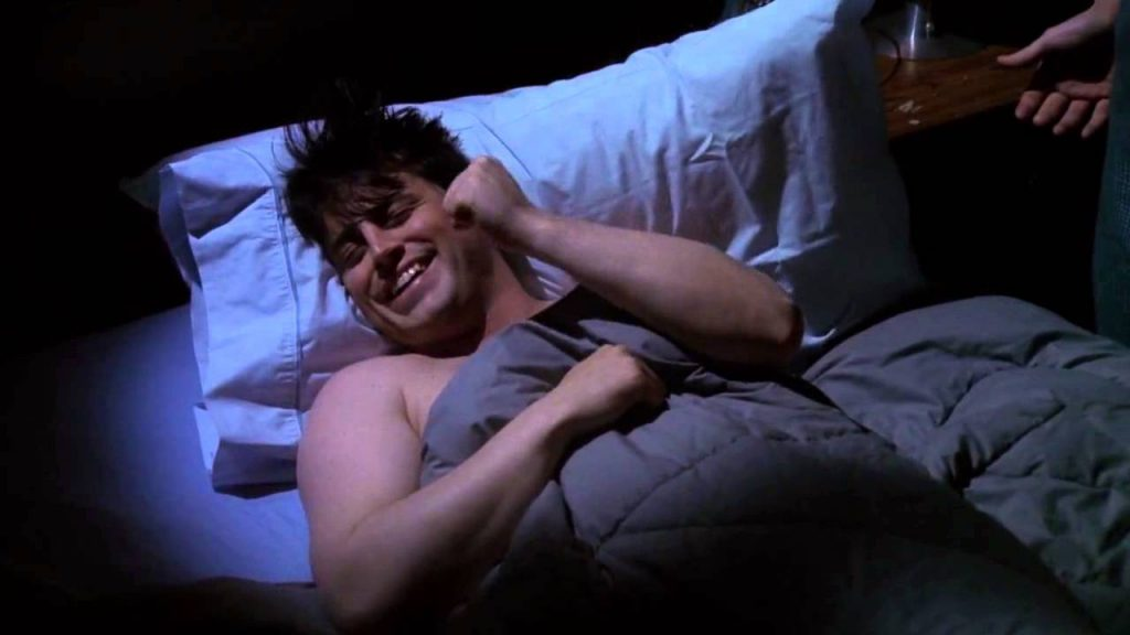 Joey Tribbiani sleeping